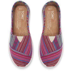Tom's Big Kids striped shoes EUC